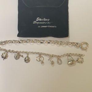 2 Bracelets: Silver Joseph Esposito & Diamonique